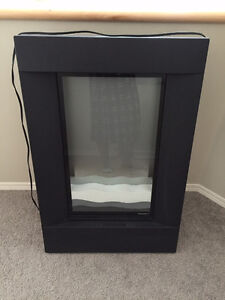 Dimplex wall mount sand layered fireplace
