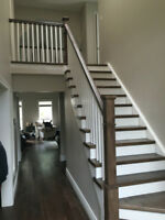 Stairs and Railings in Solid Hardwood