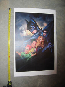 Batman and Superman.  LITHOGRAPHS