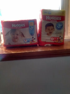 Size 6 Huggies baby dry diapers