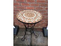 Garden Bistro Table with Mosaic Top