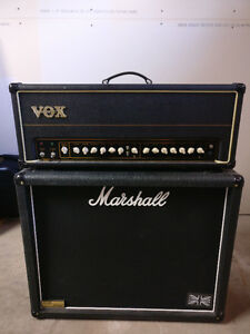 Vox AC50 and Marshall 1936 vintage 2x12 cab