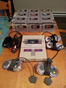 Super Nintendo - Four Controllers - Thirteen Games
