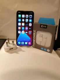 VGC Apple iPhone X Silver 256GB Unlocked + 1-Month Warranty