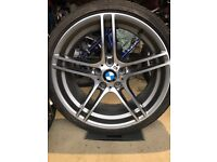 BMW 19 inch series 3 alloys - 2 front wheels with tyres