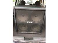 Crate 4x12 guitar amp cabinet cab