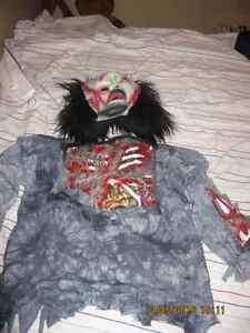Dead Zombie Costume top with mask - size medium 7-8 boys