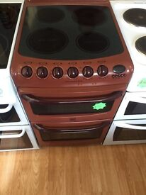 ***Burgundy Creda 50cm ceramic top cooker***Free Delivery*Fitting*Removal