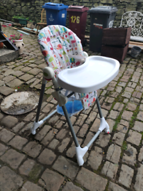 Baby's Folding High Chair With Table