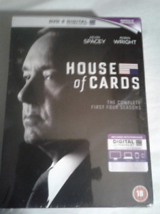 NEW UNOPENED HOUSE OF CARDS FIRST FOUR SEASONS DVD  SET