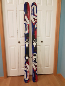 ALPINE TOURING SKIS - 174CM COOMBACK SKIS & VIPEC 12 BINDINGS