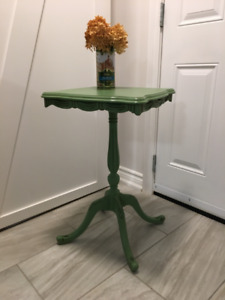 Green Refinished Occasional Table