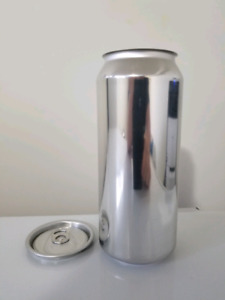 Blank 473 ml beer cans and lids