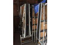 Folding stage units