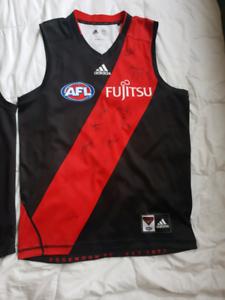 2x Essendon Bombers AFL Player Signatures Jerseys