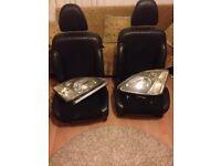 Honda Civic seats and headlights