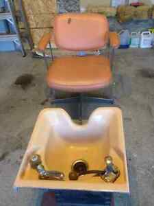 SHAMPOO CHAIR & SINK FOR SALE