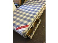 Single divan bed and mattress can deliver