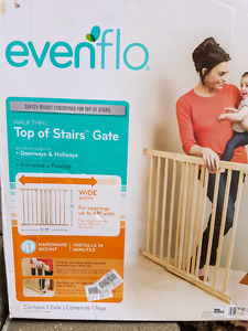 Evenflo top of stairs gate, excellent condition!