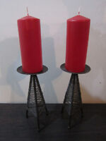 Candle Holders c/w candles