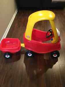 Little Tikes Cozy Coupe Ride On Car *WITH TRAILER