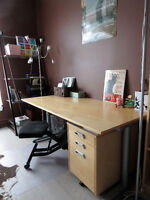 Desk and drawer, excellent condition!