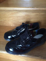 Ladies Black Patent Shoes - Size 9