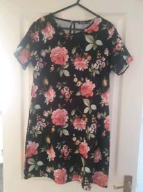 Flower Print Dress Boohoo Size 12