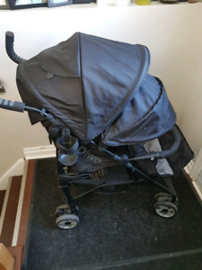 SUMMER INFANT 3D-TWO DOUBLE STROLLER WITH REPLACEMENT WHEELS