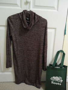 Worn Once Roots Light Weight Knit Dress - Wine Coloured