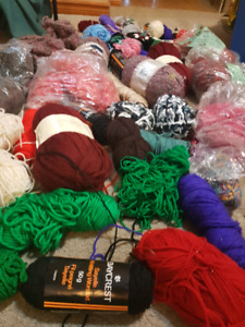 Whole bunch of knitting wool and yarn