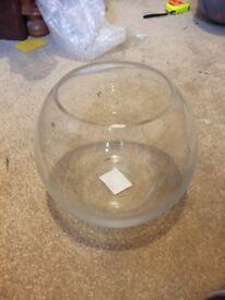 Small goldfish bowl vases x 2