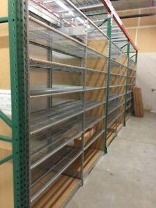 Lozier S industrial , storage, stock room shelving