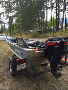 Boat, motor and trailer package Great price to get out fishing