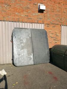 Couvert de spa gris 84x84