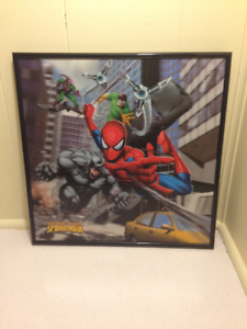 Collectible Spiderman Framed 3-D Picture Spider-Man Marvel