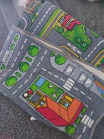 Kids road rugs x2