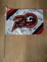 Calgary Flames autographed flag from 2000