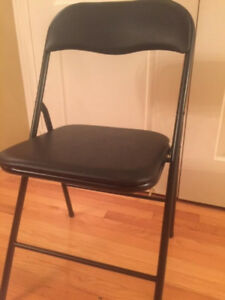 Brand new vinyl Folding Chairs, Black