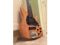Lakland 55-01 5 string bass guitar