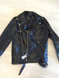 Brand new womens faux leather bike jacket size M