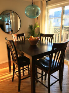 Dinette Set Table 4 Chairs Bar Pub Style