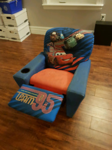 Kids cars themed recliner