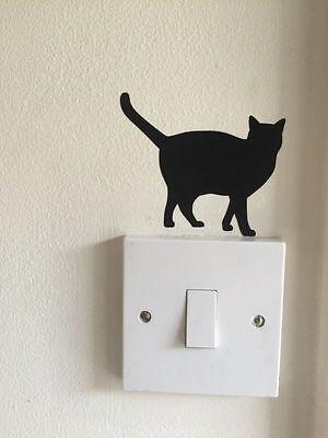 4x New CAT SILHOUETTE Vinyl Wall Car sticker Decal Halloween - Halloween Cat Silhouette