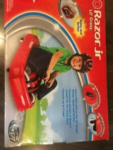 Razor Jr. lil crazy. kids cart / car - BNIB - red & black