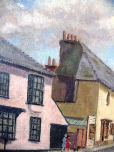 "British Original Painting by O. Nail ""High Street in Epsom"" 1959 Stratford Kitchener Area image 6"