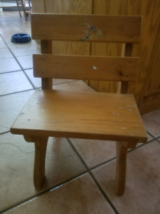 Child's solid wood chair