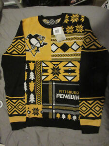 NHL BNWT PITTSBURGH PENGUINS UGLY CHRISTMAS SWEATER XL