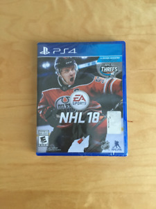 NHL 18 PS4 Game (brand new, unopened)