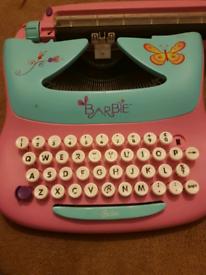 Kids Barbie Typwriter FREE
